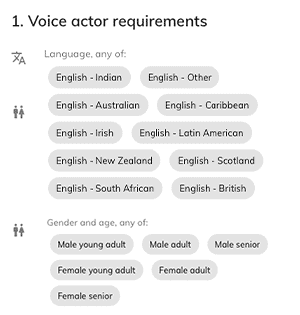 Voiceover casting websites requirements
